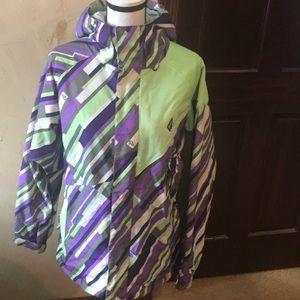 Volcom Thermonite Ski Jacket - Purple Green - Sz M